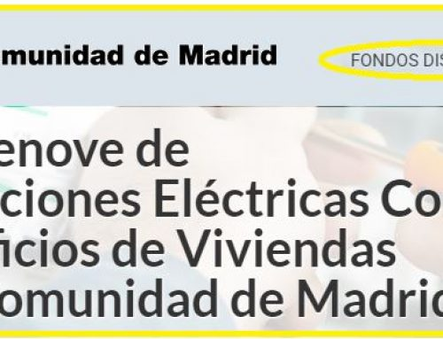 PLAN PRIEN 2018: Plan Renove Instalaciones Eléctricas Comunes en Edificios de viviendas de la Comunidad de Madrid